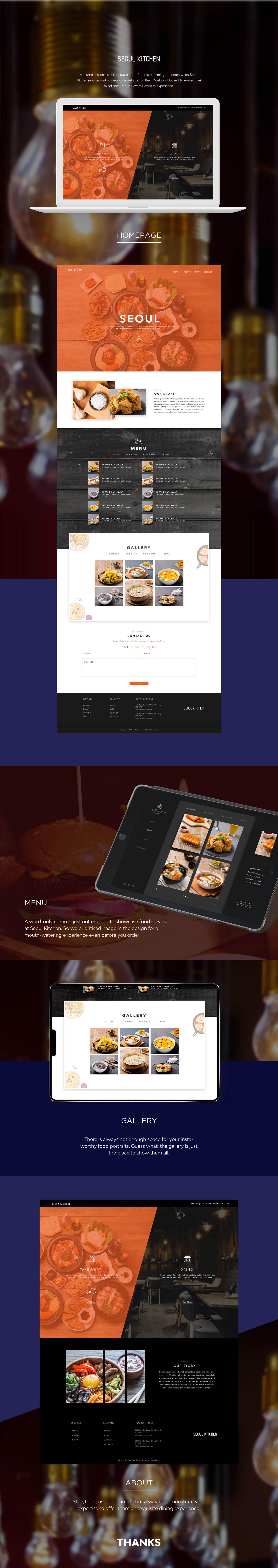 Korean restaurant website