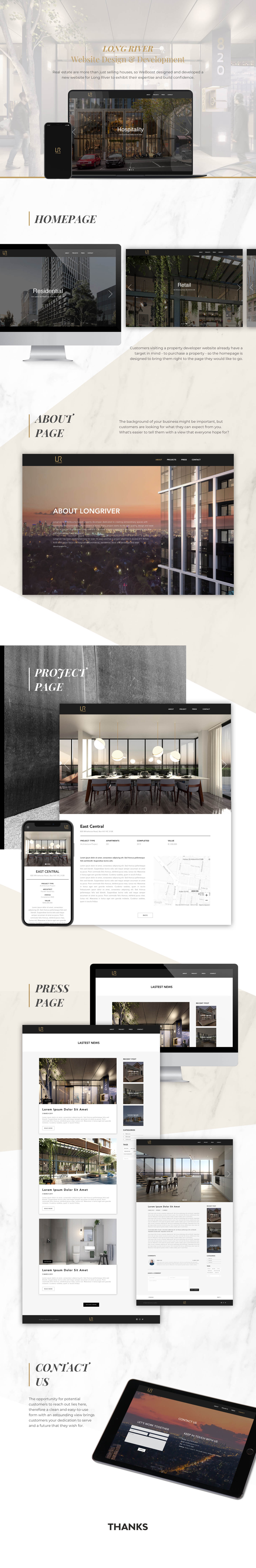 Weboost website design and development for longriver