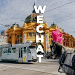 WeChat in front of Flinder street station