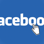 mouse click over facebook logo