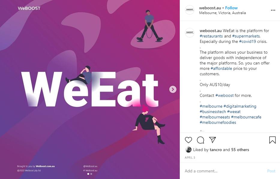 An instagram post by weboost.au
