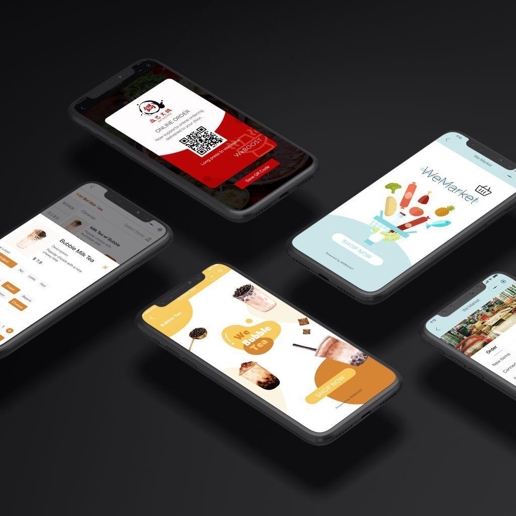 WeEat WeShop system showcase