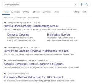 examples of Google Search Ads