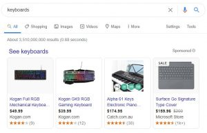 examples of Google Shopping Ads
