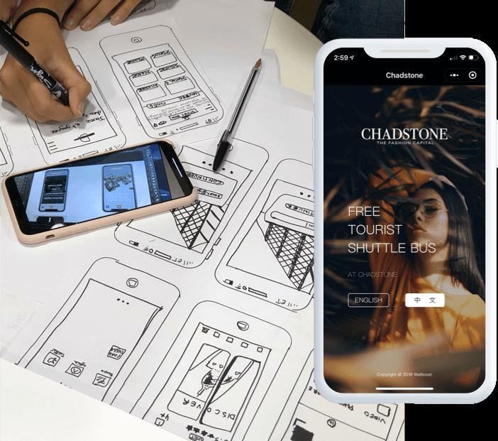 mobile application design, mobile application mockup